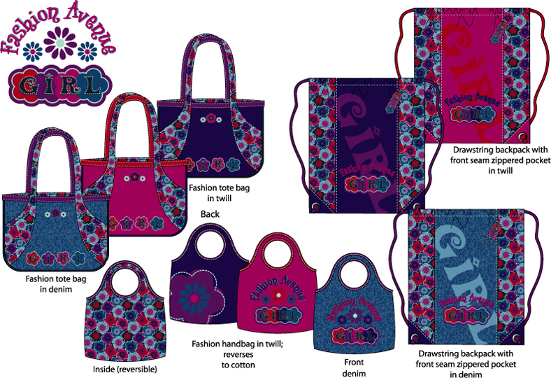 GIRLS' HANDBAGS - more examples available upon request